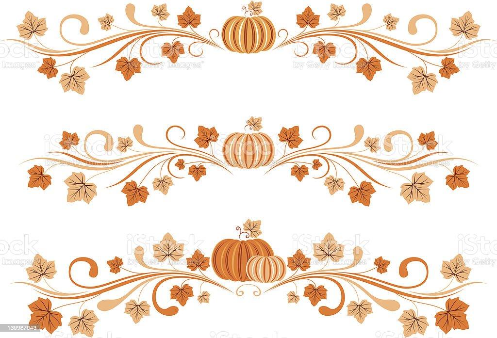 Pumpkin Borders Stock Illustration - Download Image Now ...