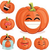 Pumpkin Cartoon Set B