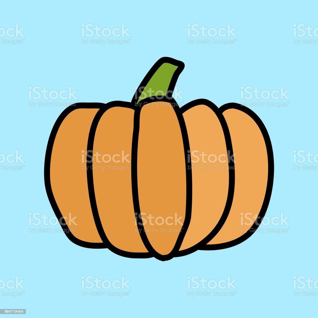 Pumpkin Doodle Drawing royalty-free pumpkin doodle drawing stock vector art & more images of cartoon