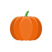istock Pumpkin Flat Design Vegetable Icon 1017915018
