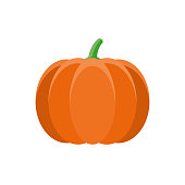 istock Pumpkin Flat Design Vegetable Icon 1017915018