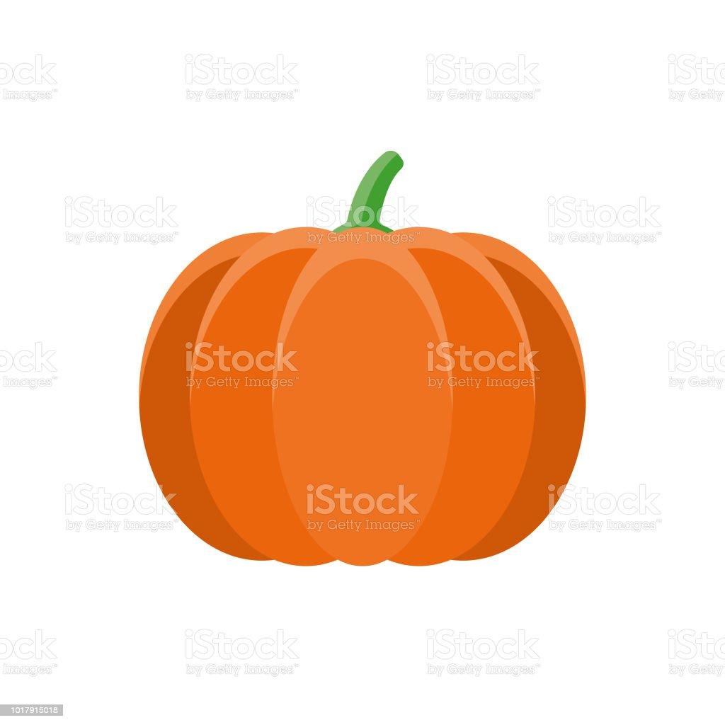 Pumpkin Flat Design Vegetable Icon vector art illustration