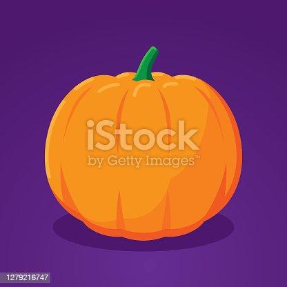 istock Pumpkin Flat 1279216747