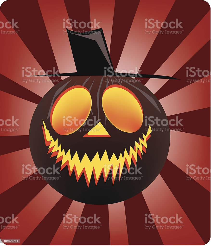 Pumpkin Head royalty-free stock vector art