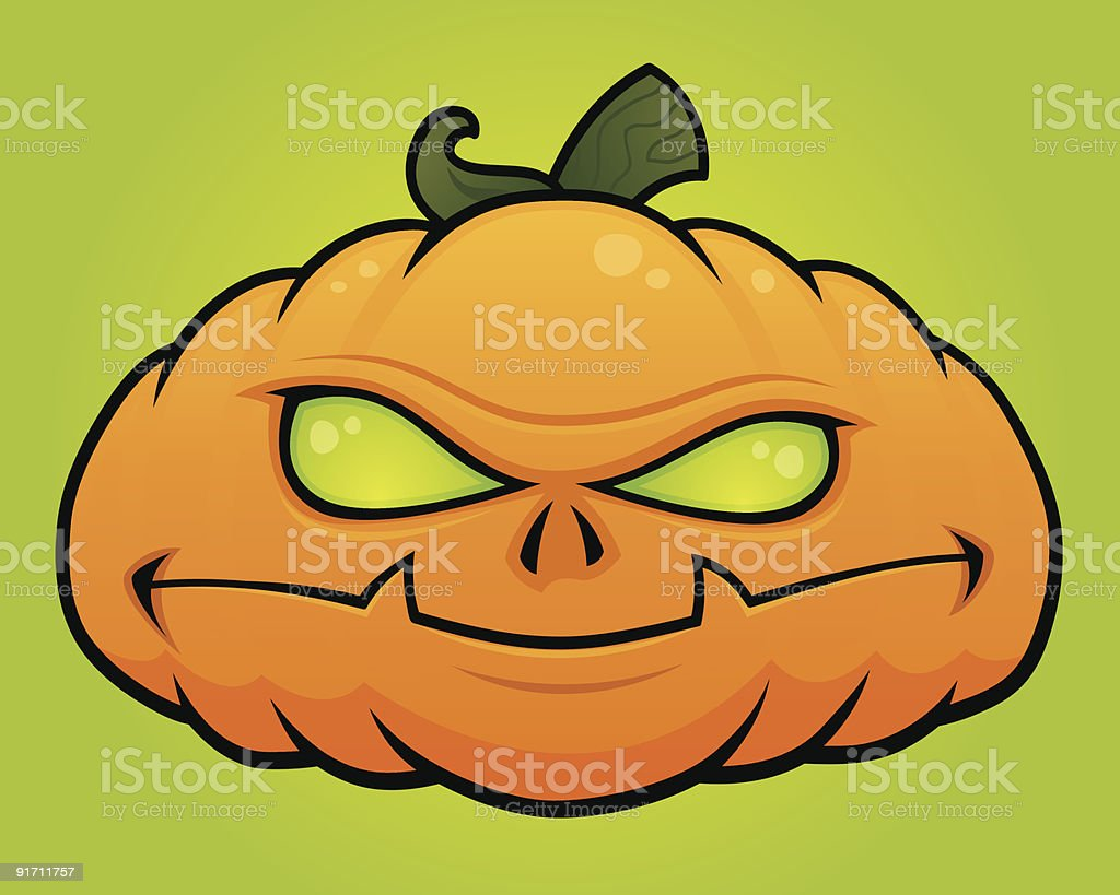 Pumpkin Head vector art illustration