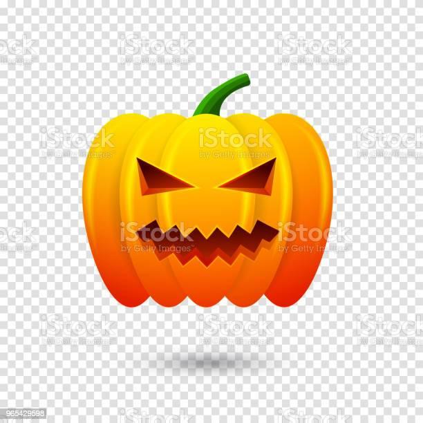 행복 한 할로윈 호박 아이콘입니다 투명 한 배경에 고립 벡터 일러스트 레이 션 10월에 대한 스톡 벡터 아트 및 기타 이미지