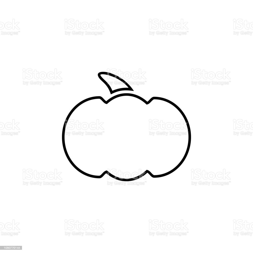 Royalty Free Black And White Pumpkin Clip Art Vector Images