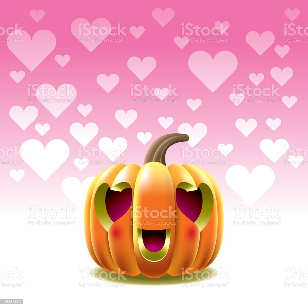 Pumpkin in Love royalty-free pumpkin in love stock vector art & more images of art