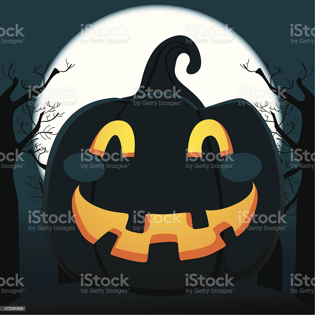 Pumpkin In The Forest royalty-free pumpkin in the forest stock vector art & more images of 12 o'clock