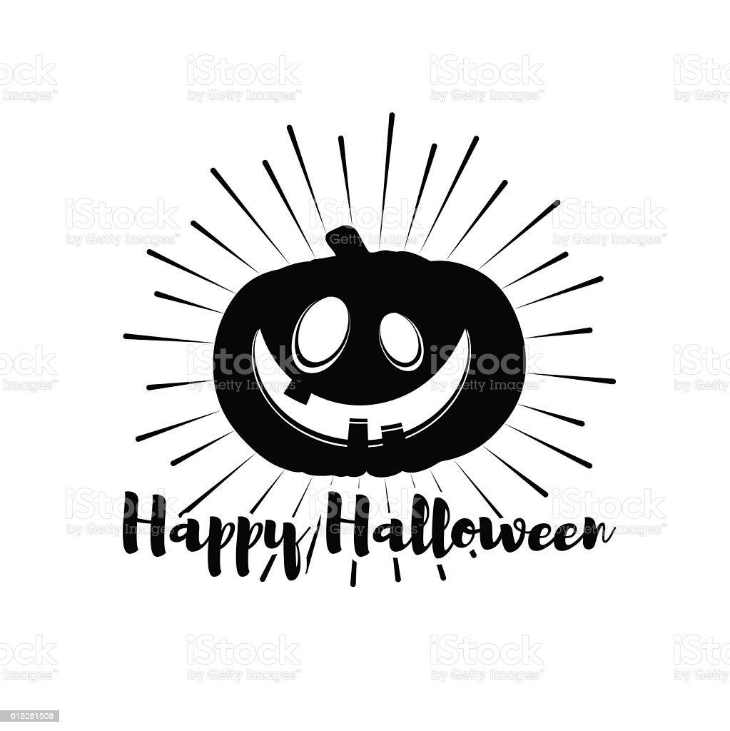 Pumpkin lantern halloween party badge the invitation sample vector halloween party badge the invitation sample vector illustration royalty free stopboris Choice Image