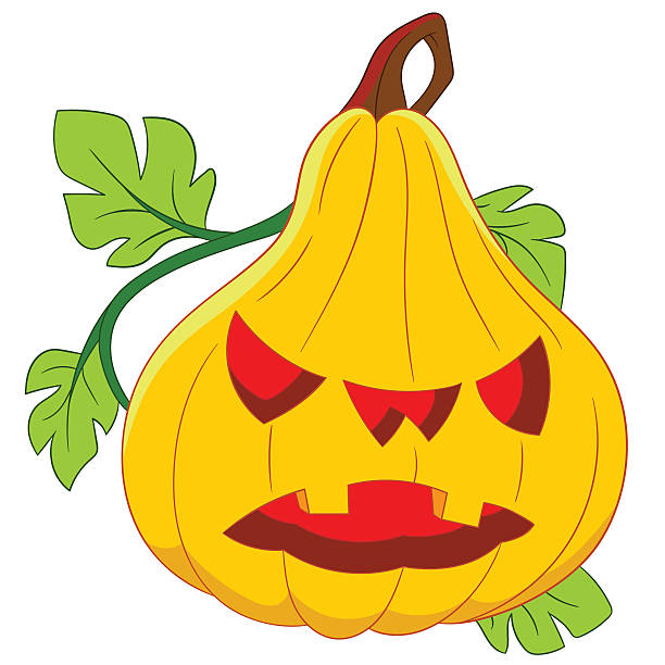 pumpkin on halloween evil and frightening pumpkin on halloween daunt stock illustrations