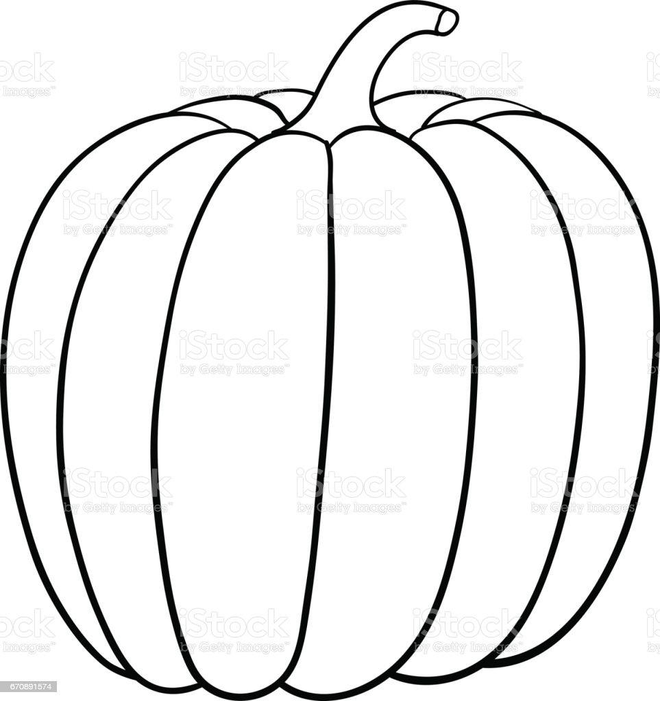 outline of pumpkin