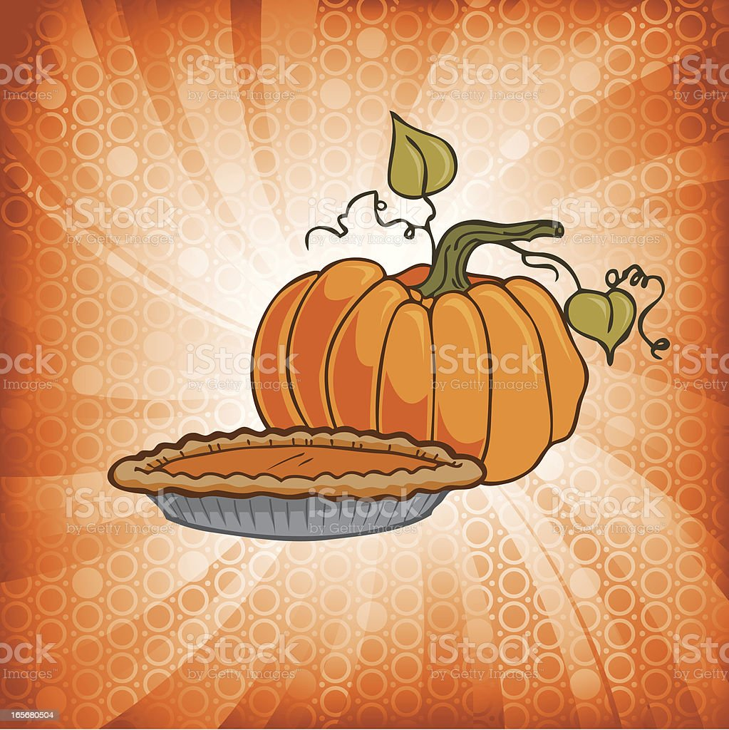 Pumpkin Pie Burst royalty-free stock vector art