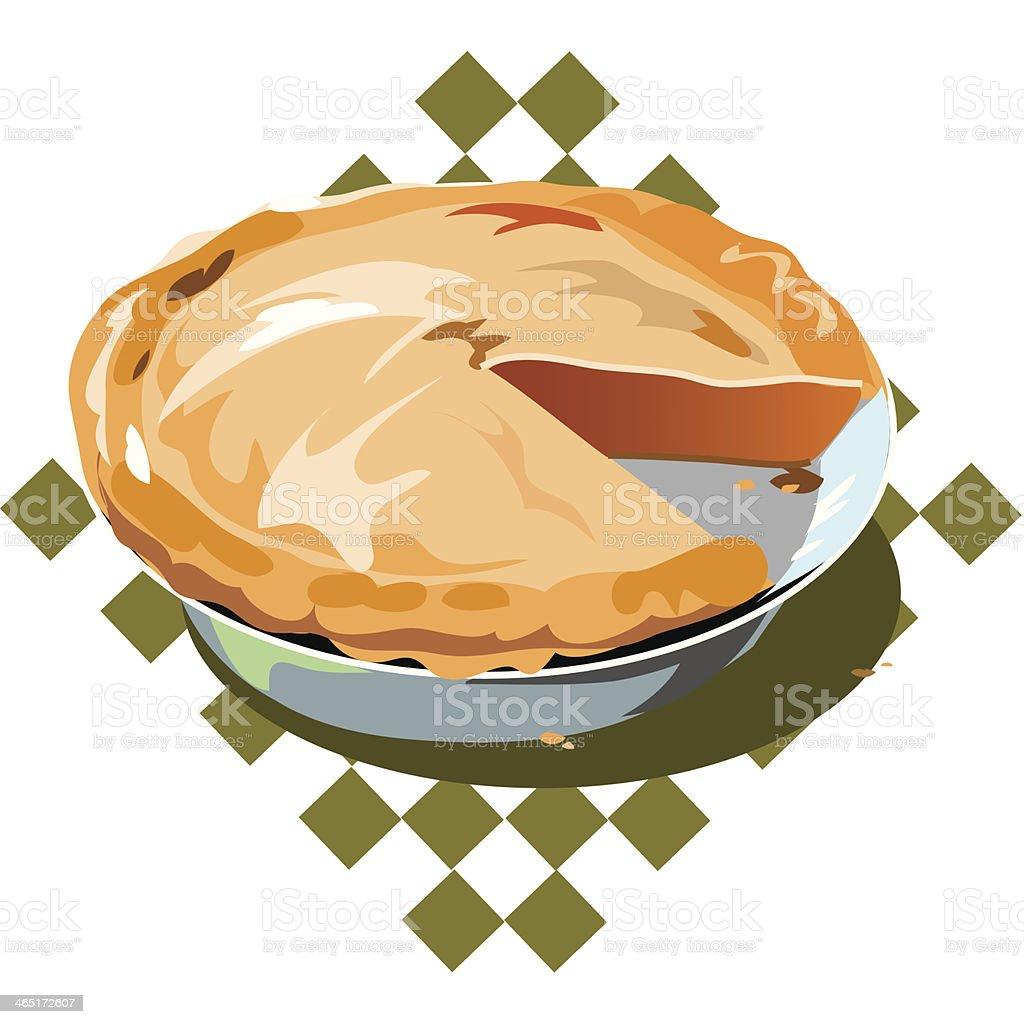 Pumpkin Pie C royalty-free stock vector art