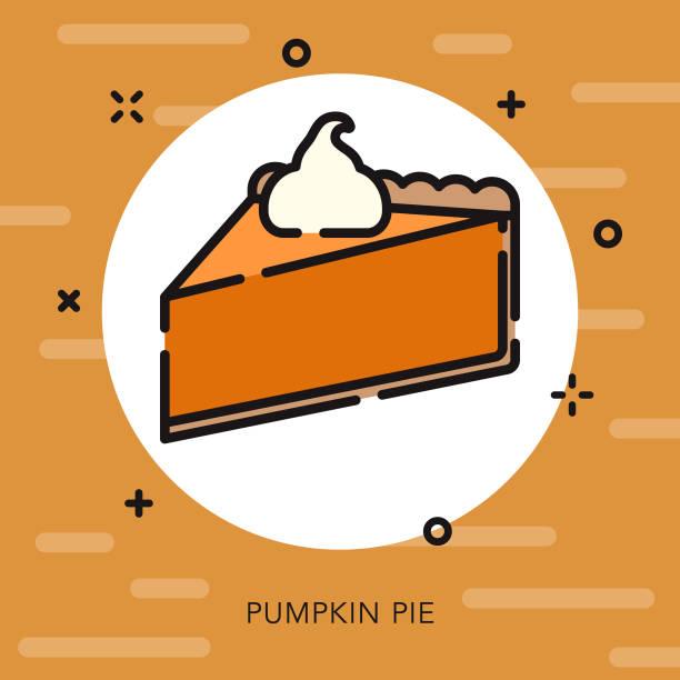 南瓜餡餅打開大綱感恩節圖示 - pumpkin pie 幅插畫檔、美工圖案、卡通及圖標