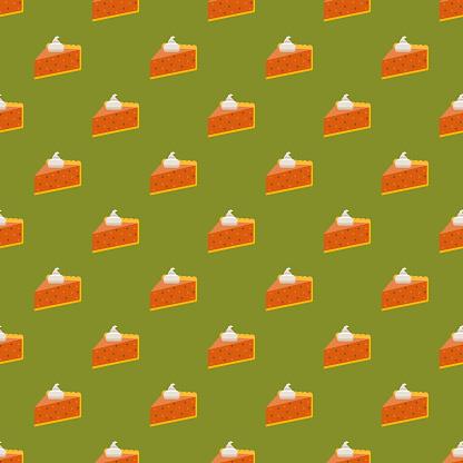Pumpkin Pie Seamless Pattern