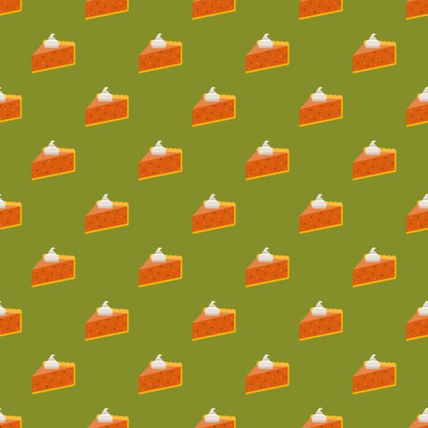 南瓜餅無縫圖案 - pumpkin pie 幅插畫檔、美工圖案、卡通及圖標