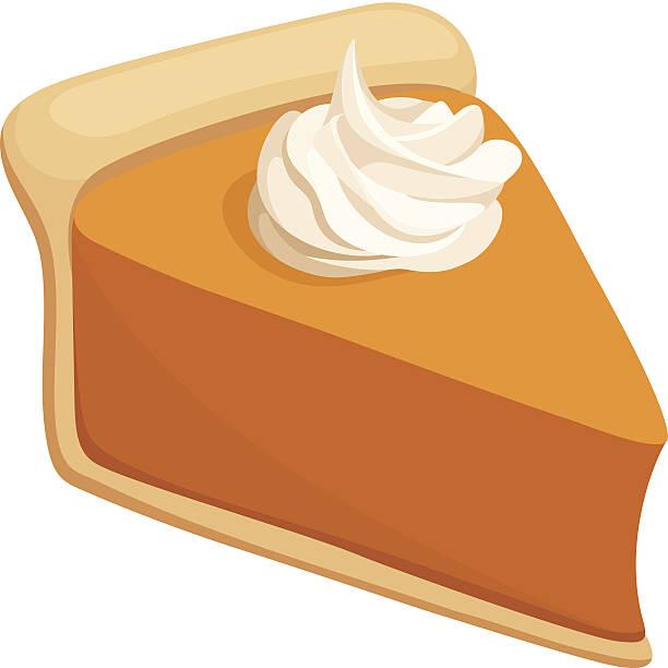 pumpkin pie slice. vector illustration. - pumpkin pie 幅插畫檔、美工圖案、卡通及圖標