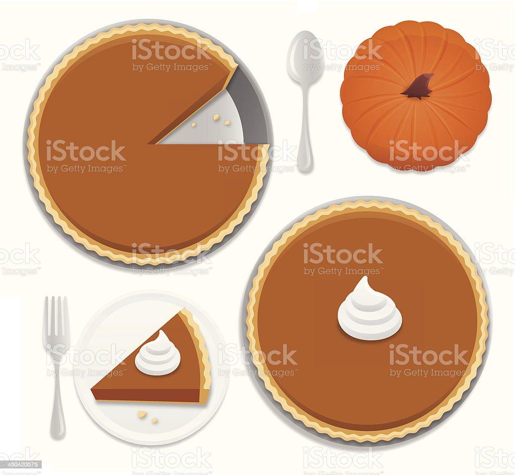 Pumpkin Pie vector art illustration