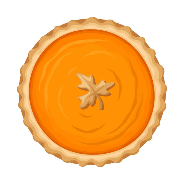 南瓜派向量插圖。 - pumpkin pie 幅插畫檔、美工圖案、卡通及圖標