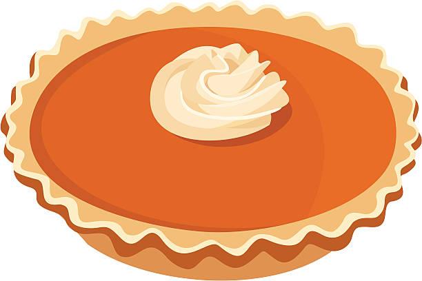 pumpkin pie. vector illustration. - pumpkin pie 幅插畫檔、美工圖案、卡通及圖標