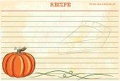 A cartoon style pumpkin recipe card.