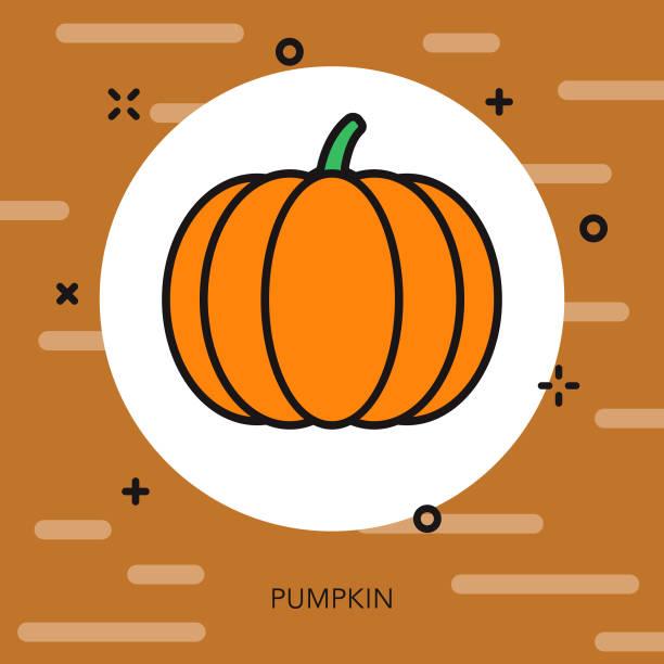 pumpkin thin line autumn icon - thin line fonts stock illustrations