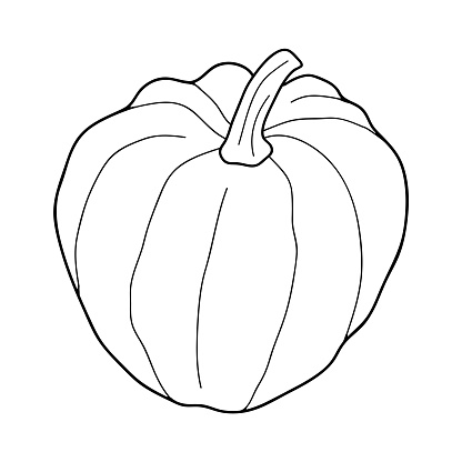 Free Download Of Pumpkins Black And White Clip Art Vector Graphic