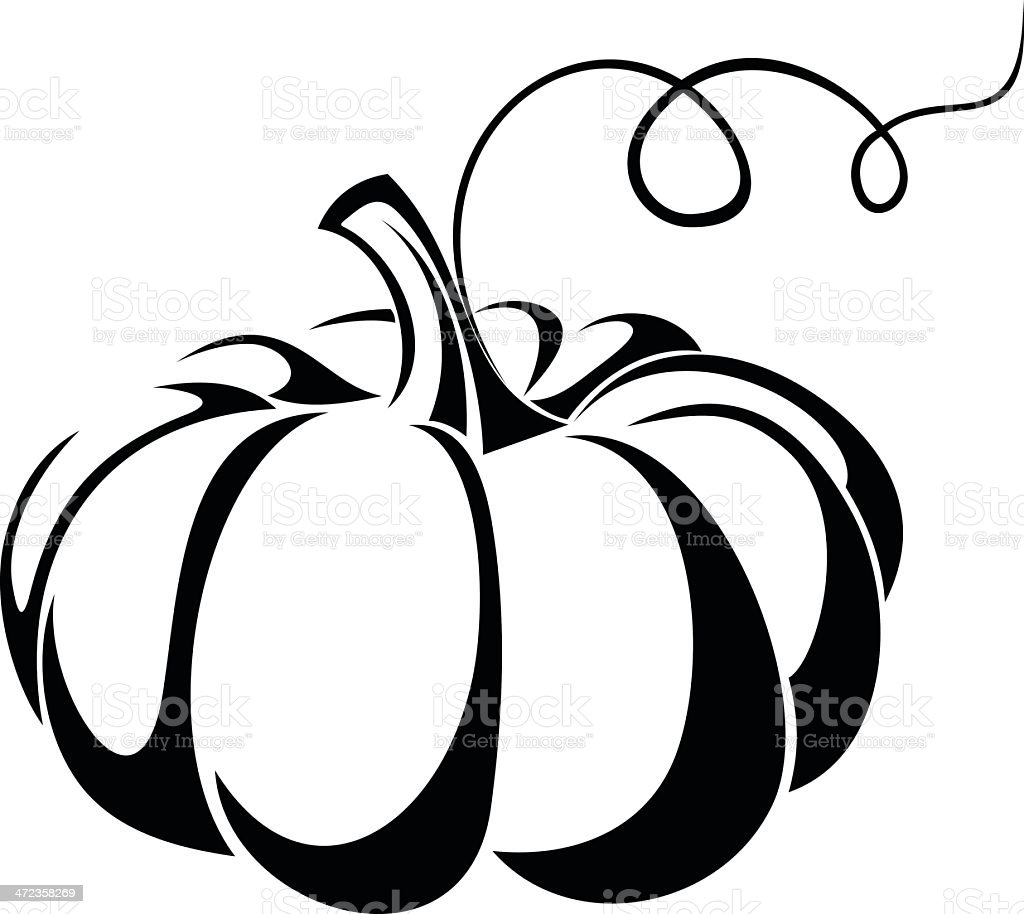 Pumpkin Vector Black Silhouette Stock Vector Art & More ...