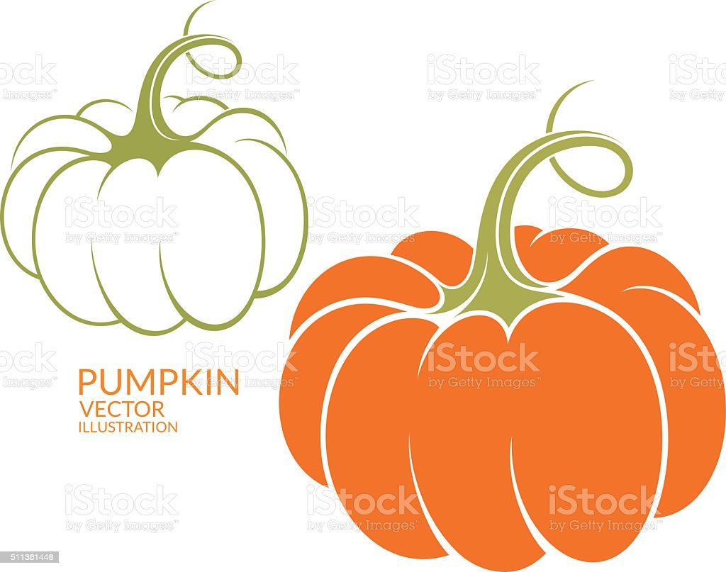 pumpkin stock vector art more images of abstract 511361448 istock rh istockphoto com Fall Pumpkin Clip Art Outline Pumpkin Clip Art Outline Sections