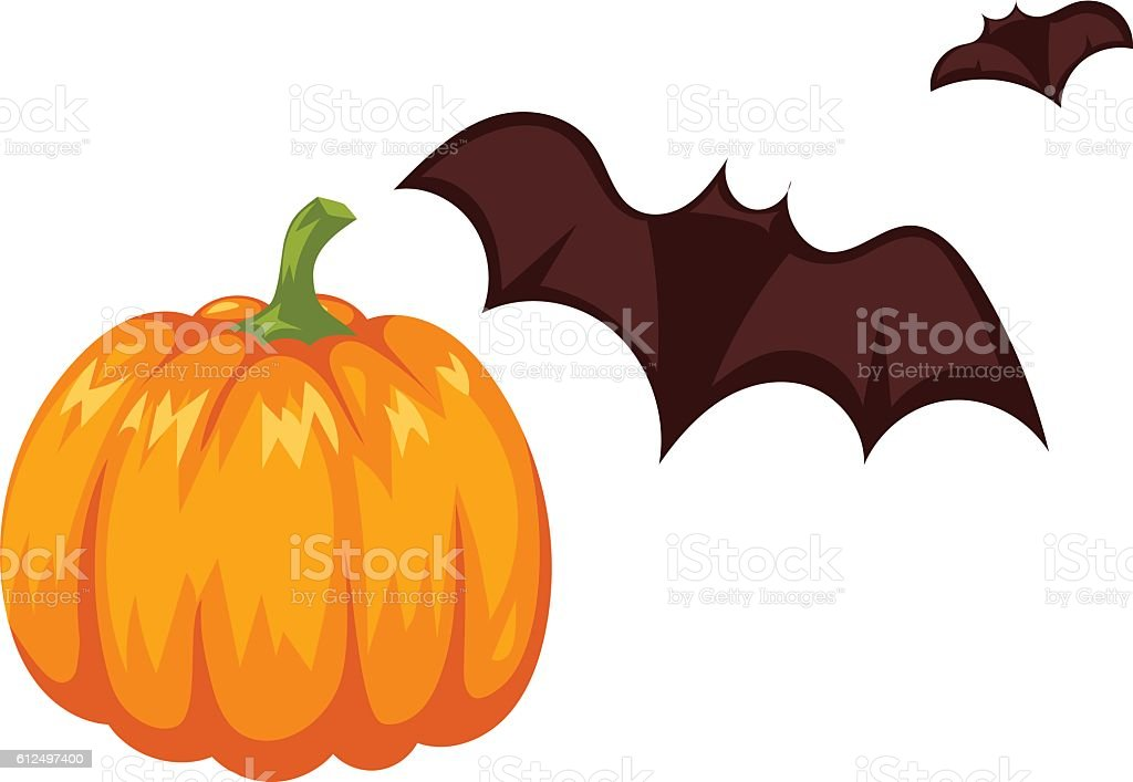 pumpkin vector illustration isolated stock vector art 612497400