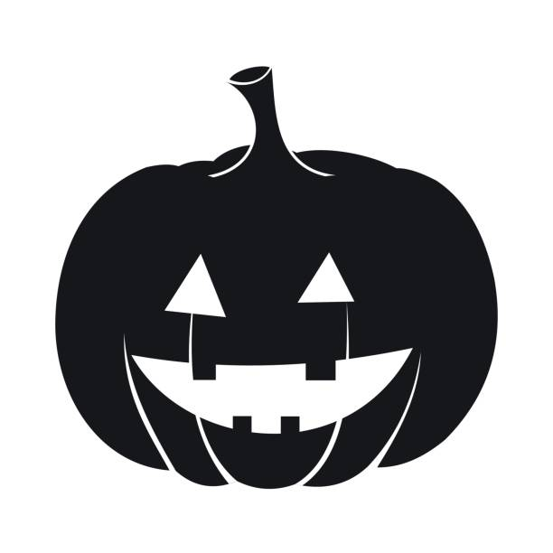 Best Black And White Pumpkin Illustrations, Royalty-Free ...