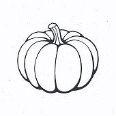 istock Pumpkin with stem. Healthy vegetarian food. Ingredient for vegetable menu. 1255936998