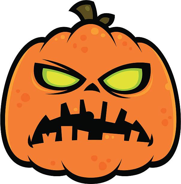 Pumpkin Zombie vector art illustration
