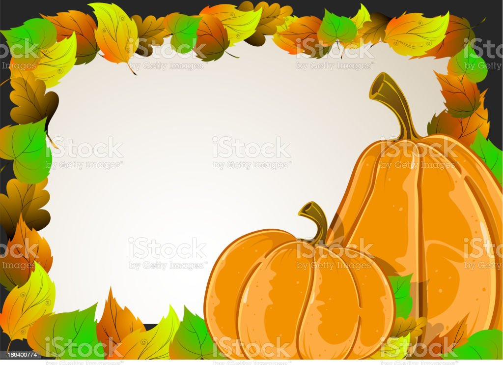 Pumpkins and  leaves royalty-free pumpkins and leaves stock vector art & more images of abstract