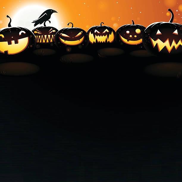 Pumpkins at Dusk - Very detailed vector art illustration