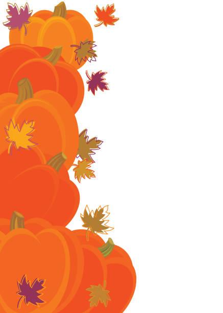 Pumpkins Background vector art illustration