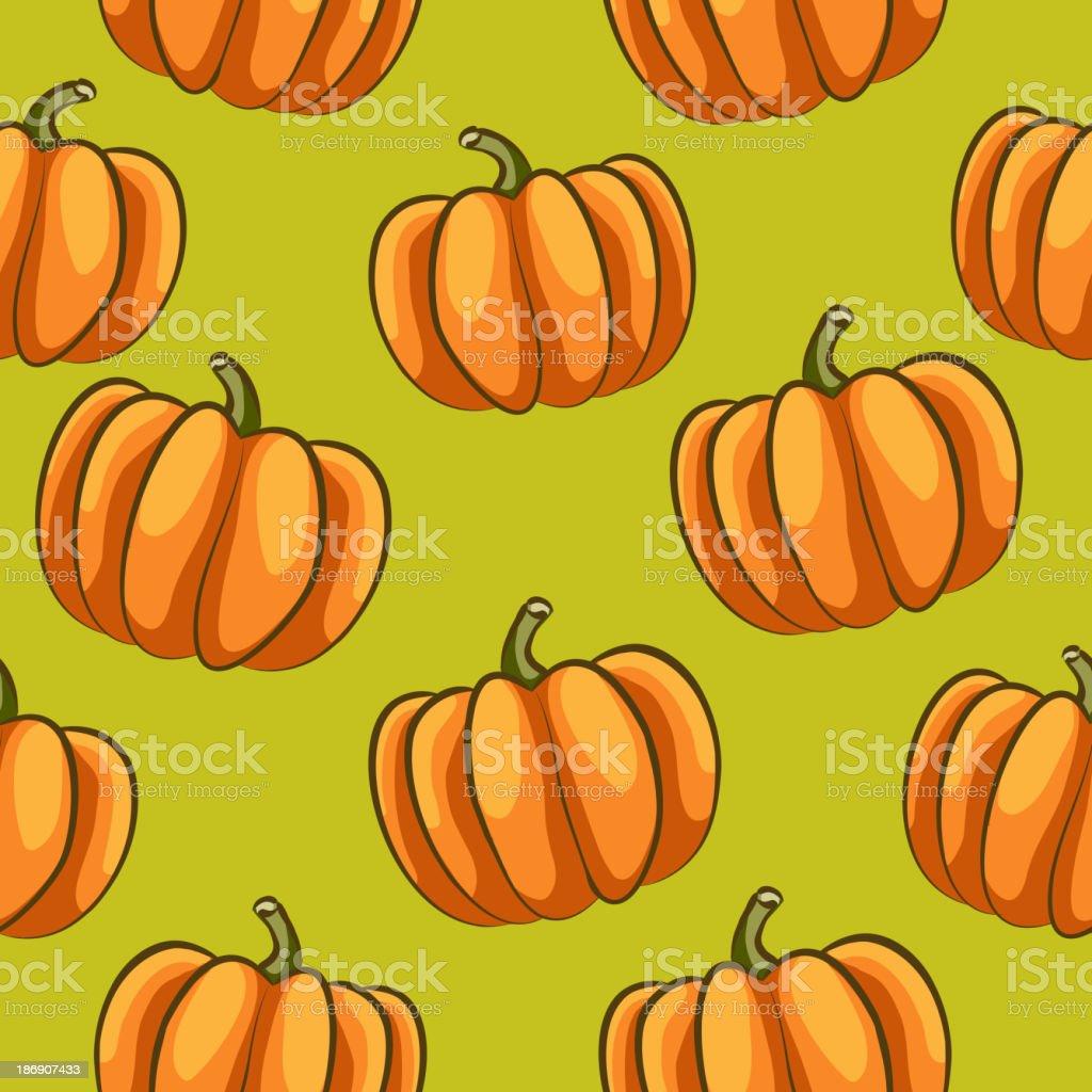 pumpkins seamless pattern royalty-free stock vector art