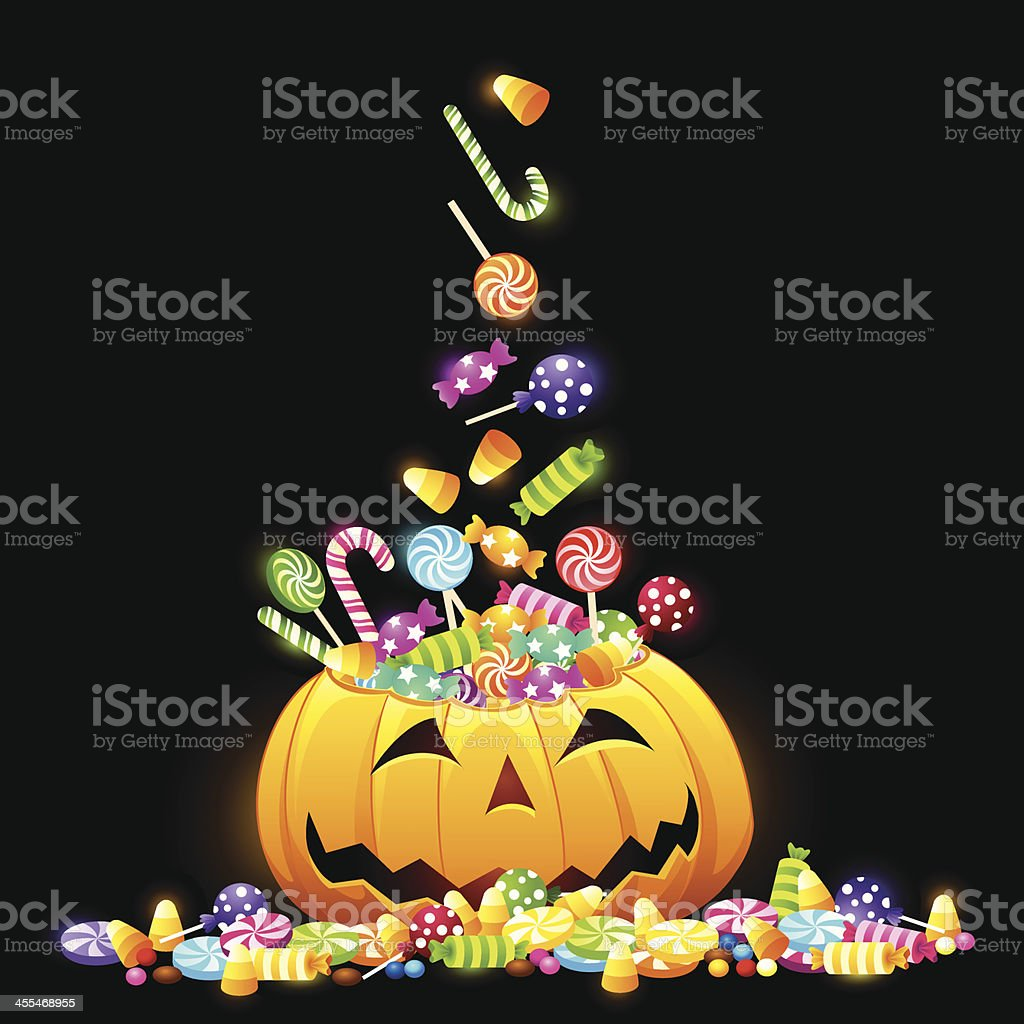 Pumpkin's Treat Or Trick vector art illustration