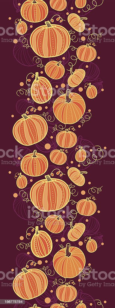 Pumpkins Vertical Seamless Pattern Background royalty-free stock vector art