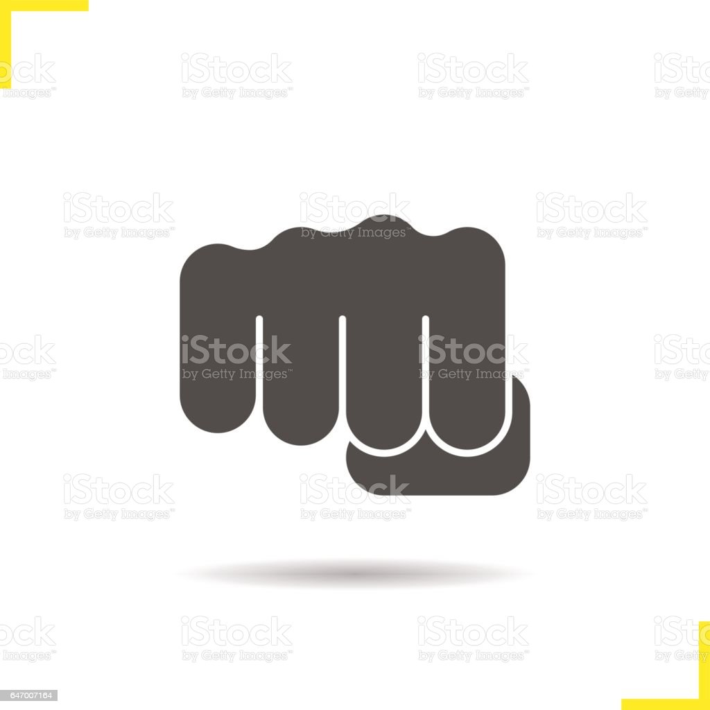 Punch icon vector art illustration