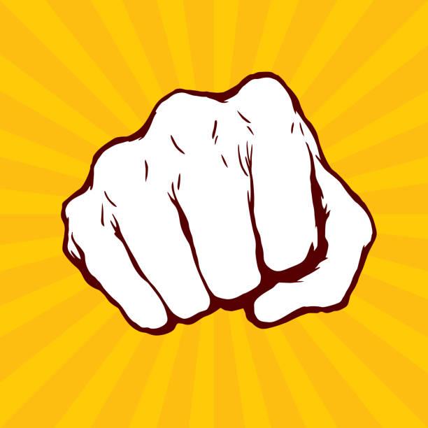 衝壓拳手向量 - 毆打 幅插畫檔、美工圖案、卡通及圖標