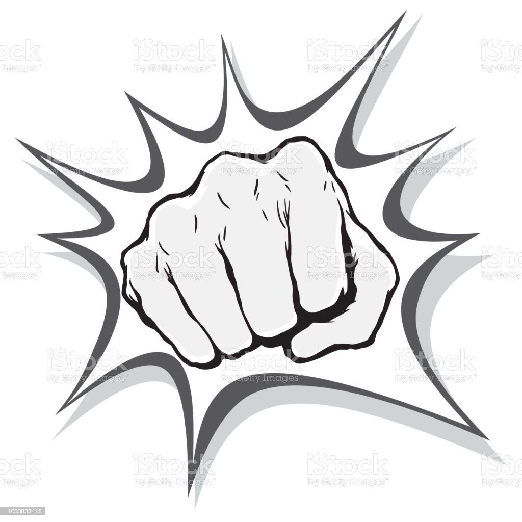 Punching Fist Hand Vector Stock Illustration Download Image Now Istock