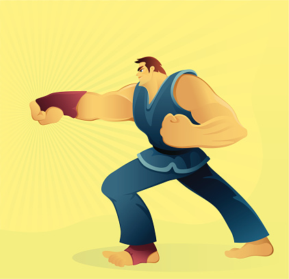 Punching-vektorgrafik och fler bilder på Asiatisk kampsport