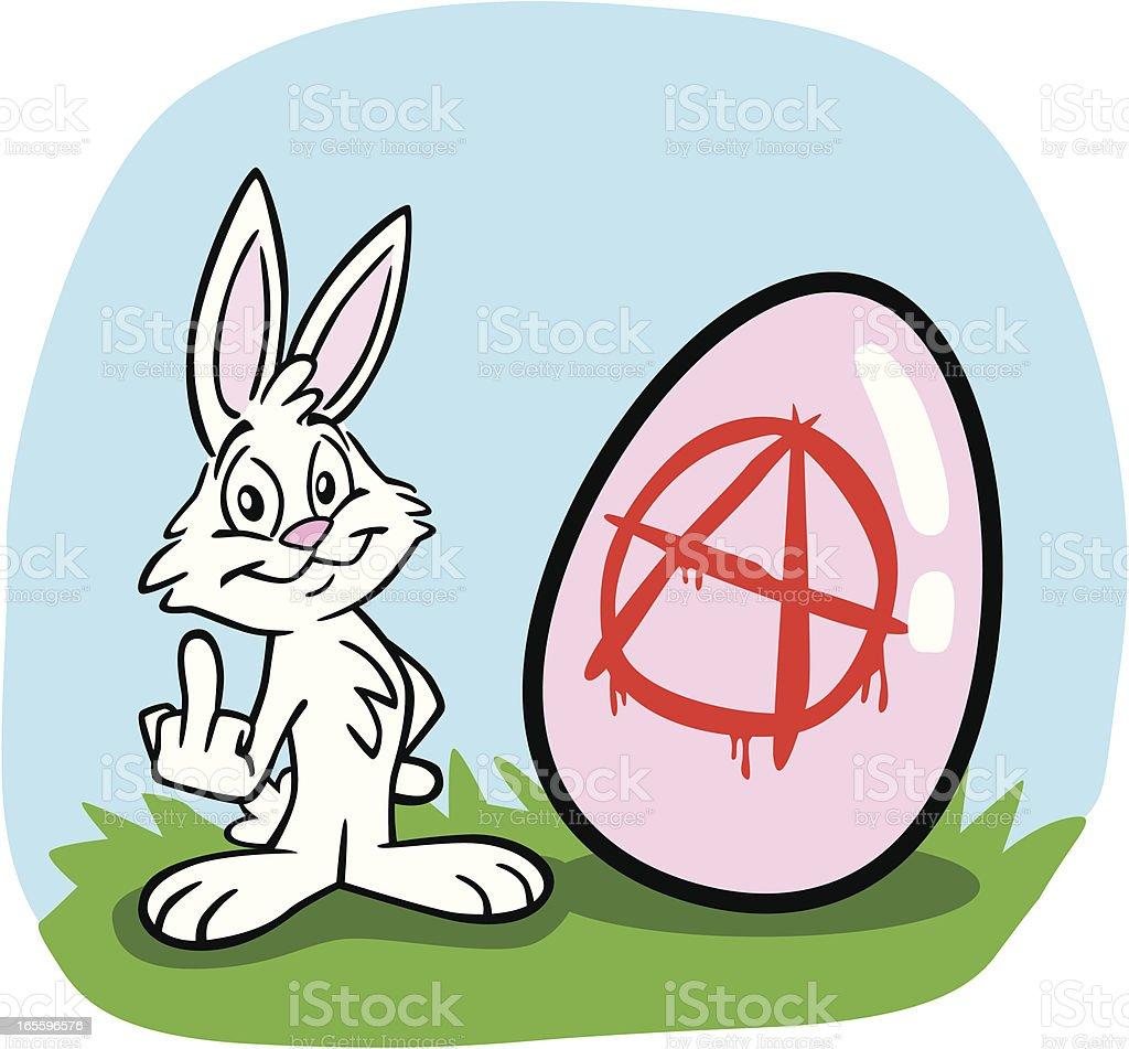 Punk Easter Bunny vector art illustration