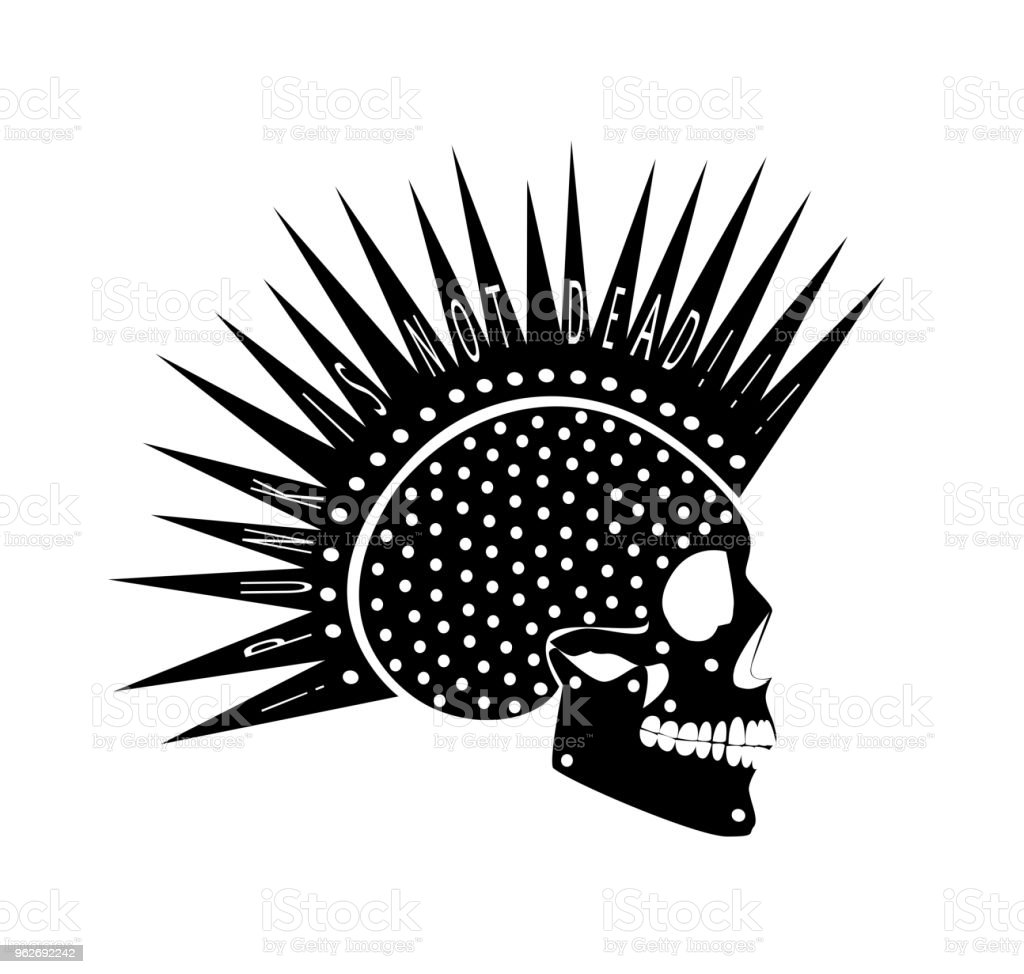 cdef5023bc52 Punk is not dead skull icon black color royalty-free punk is not dead skull