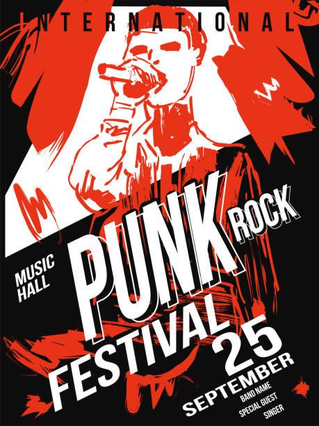 punk-rock-festival-plakat-vorlage - punk stock-grafiken, -clipart, -cartoons und -symbole