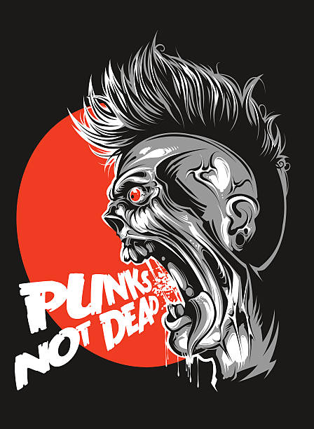 punks not dead - punk stock-grafiken, -clipart, -cartoons und -symbole
