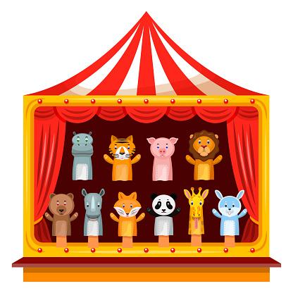 Puppet Show Theatre - Stockowe grafiki wektorowe i więcej obrazów Azja