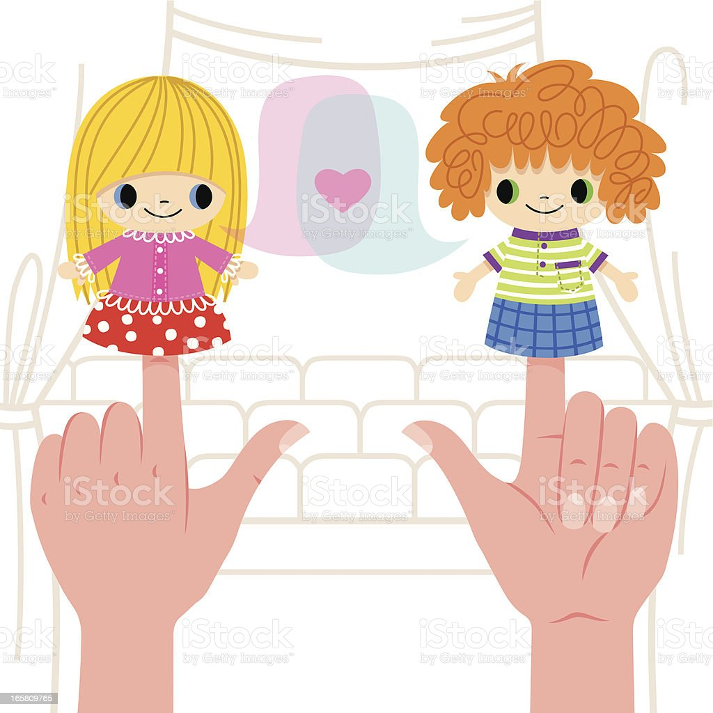 Puppet Show. royalty-free stock vector art